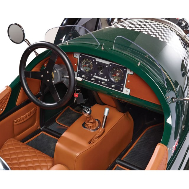 Threewheeler interior